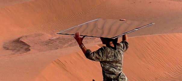 after DECRUSTATION in the Sahara Desert