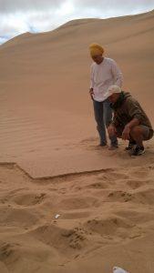 2.1. Alex und Anneli an einem kleinen Decrustat, der neue PU wird getestet